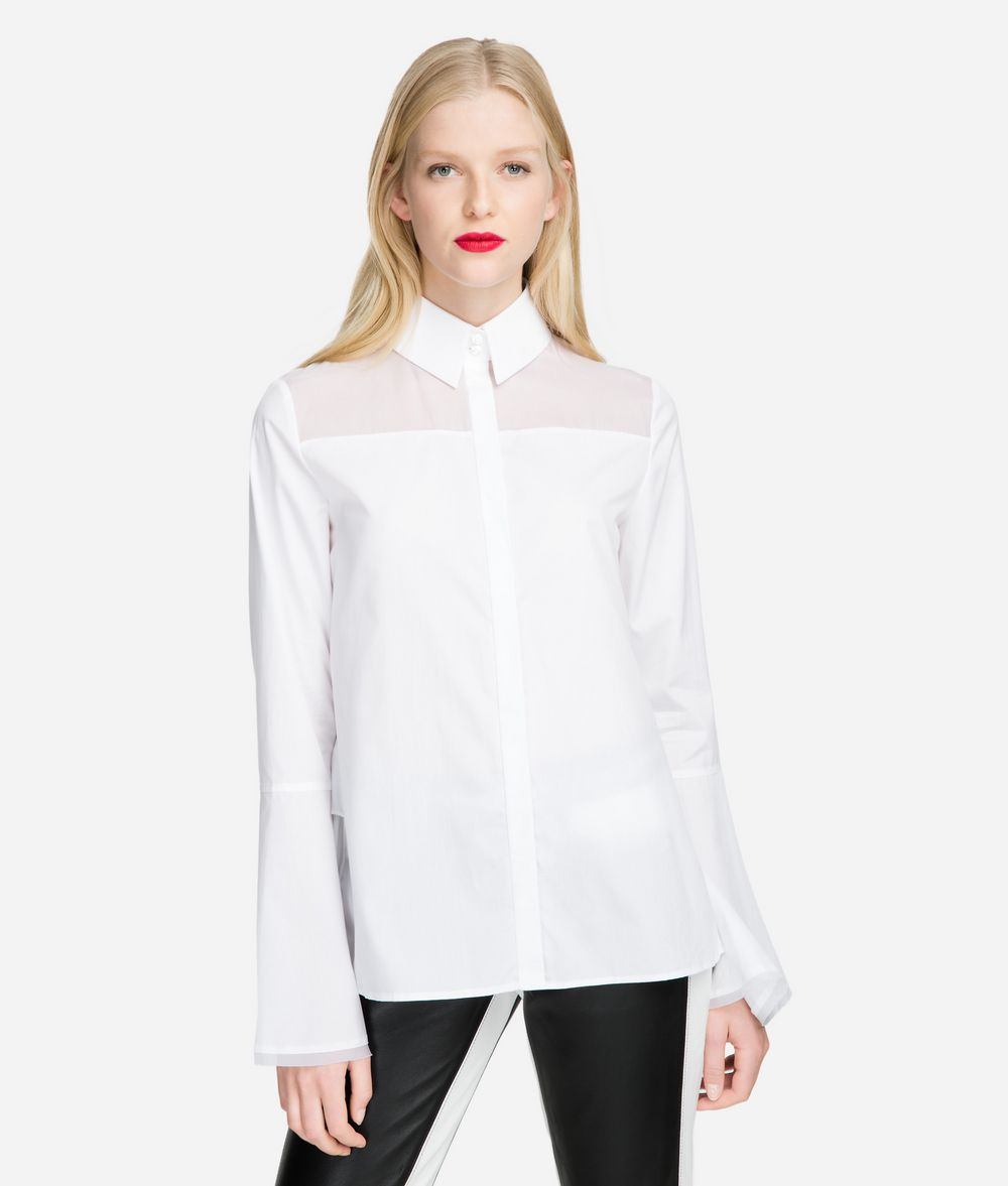 KARL LAGERFELD Layered Back-Detail Shirt Blouse Woman f