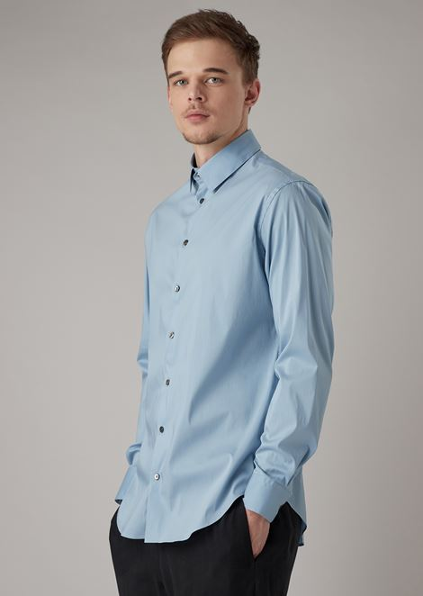 Regular-fit shirt in pure linen