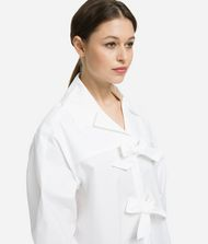 KARL LAGERFELD Karl Bow Shirt Blouse Woman r