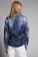 DSQUARED2 Nina Denim Wrap Shirt Shirt Woman
