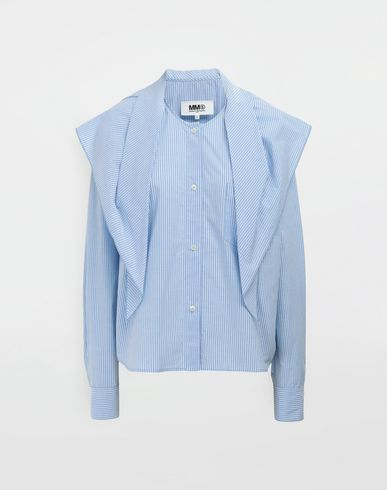 MM6 MAISON MARGIELA Long sleeve shirt [*** pickupInStoreShipping_info ***] Sailor striped poplin shirt f