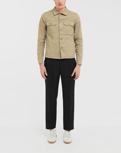 SHIRTS Shrunken military gabardine shirt