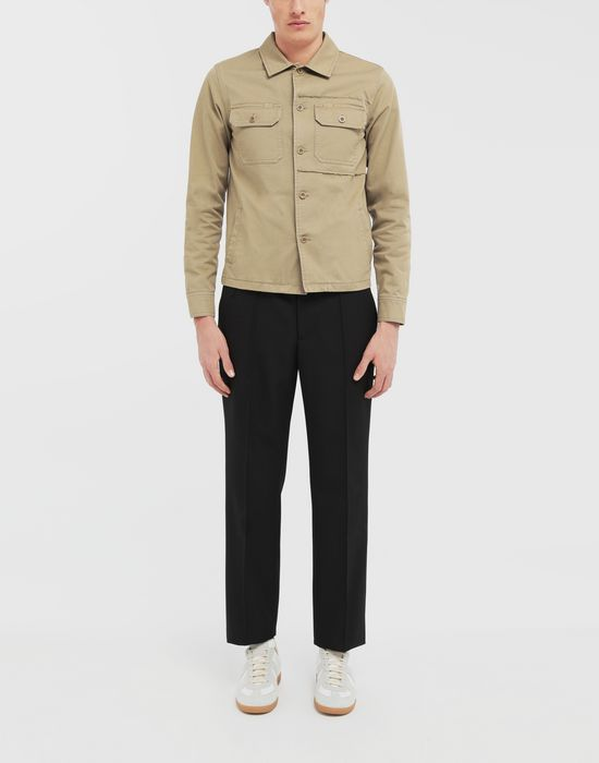 MAISON MARGIELA Shrunken military gabardine shirt Long sleeve shirt [*** pickupInStoreShippingNotGuaranteed_info ***] d