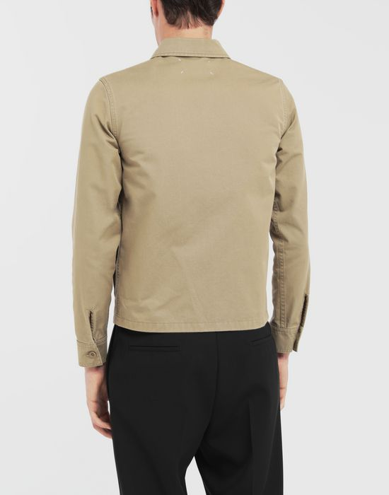 MAISON MARGIELA Shrunken military gabardine shirt Long sleeve shirt [*** pickupInStoreShippingNotGuaranteed_info ***] e