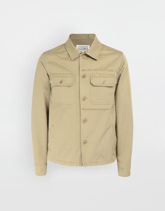 MAISON MARGIELA Shrunken military gabardine shirt Long sleeve shirt [*** pickupInStoreShippingNotGuaranteed_info ***] f