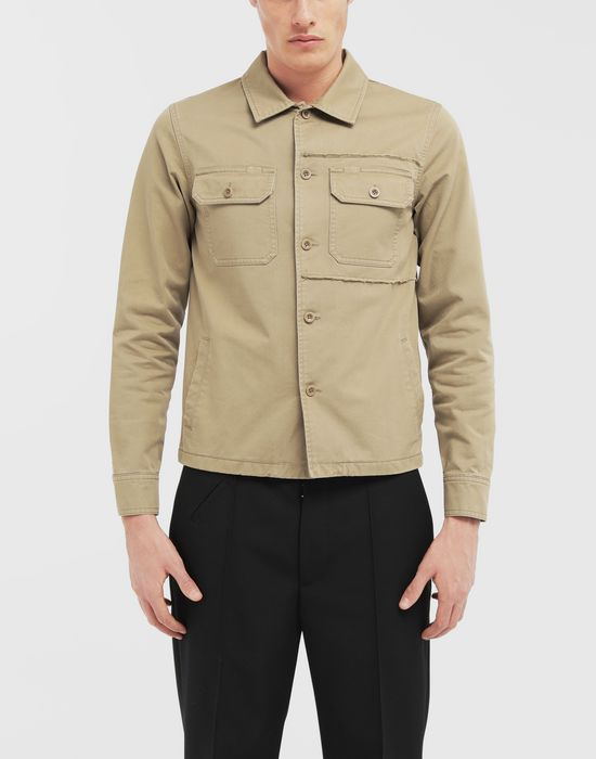 MAISON MARGIELA Shrunken military gabardine shirt Long sleeve shirt [*** pickupInStoreShippingNotGuaranteed_info ***] r