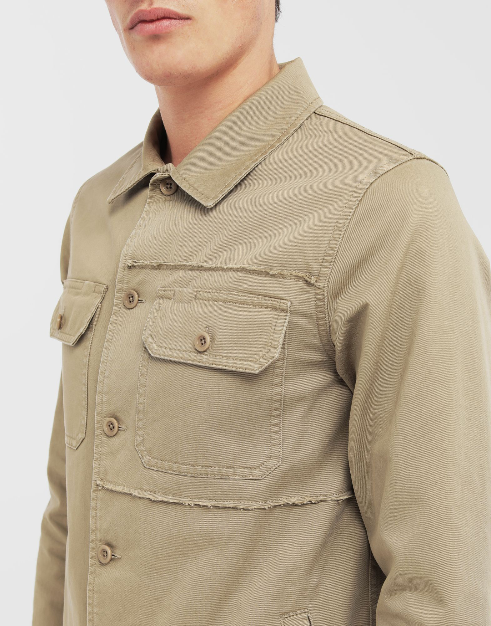 MAISON MARGIELA Shrunken military gabardine shirt Long sleeve shirt Man a