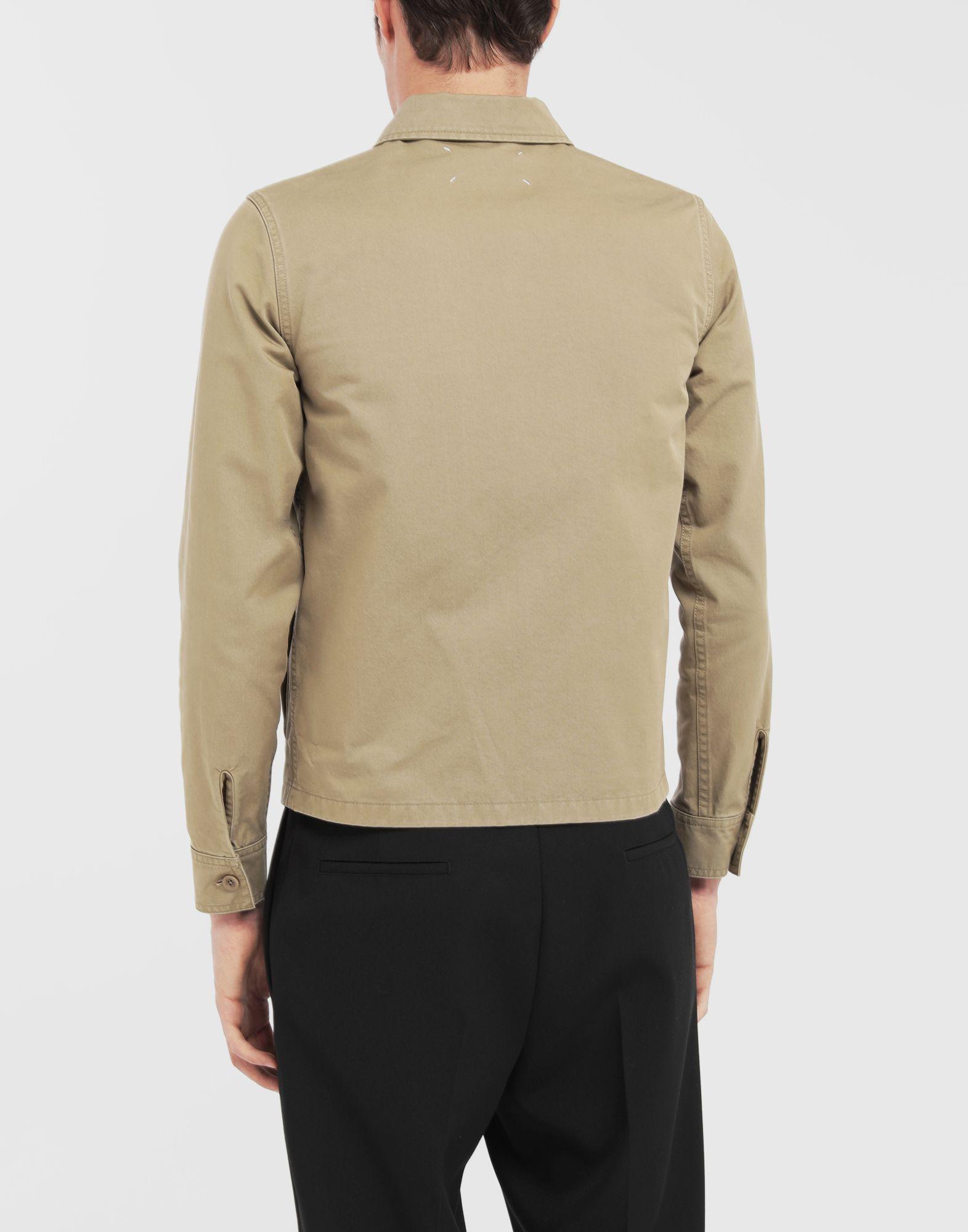 MAISON MARGIELA Shrunken military gabardine shirt Long sleeve shirt Man e