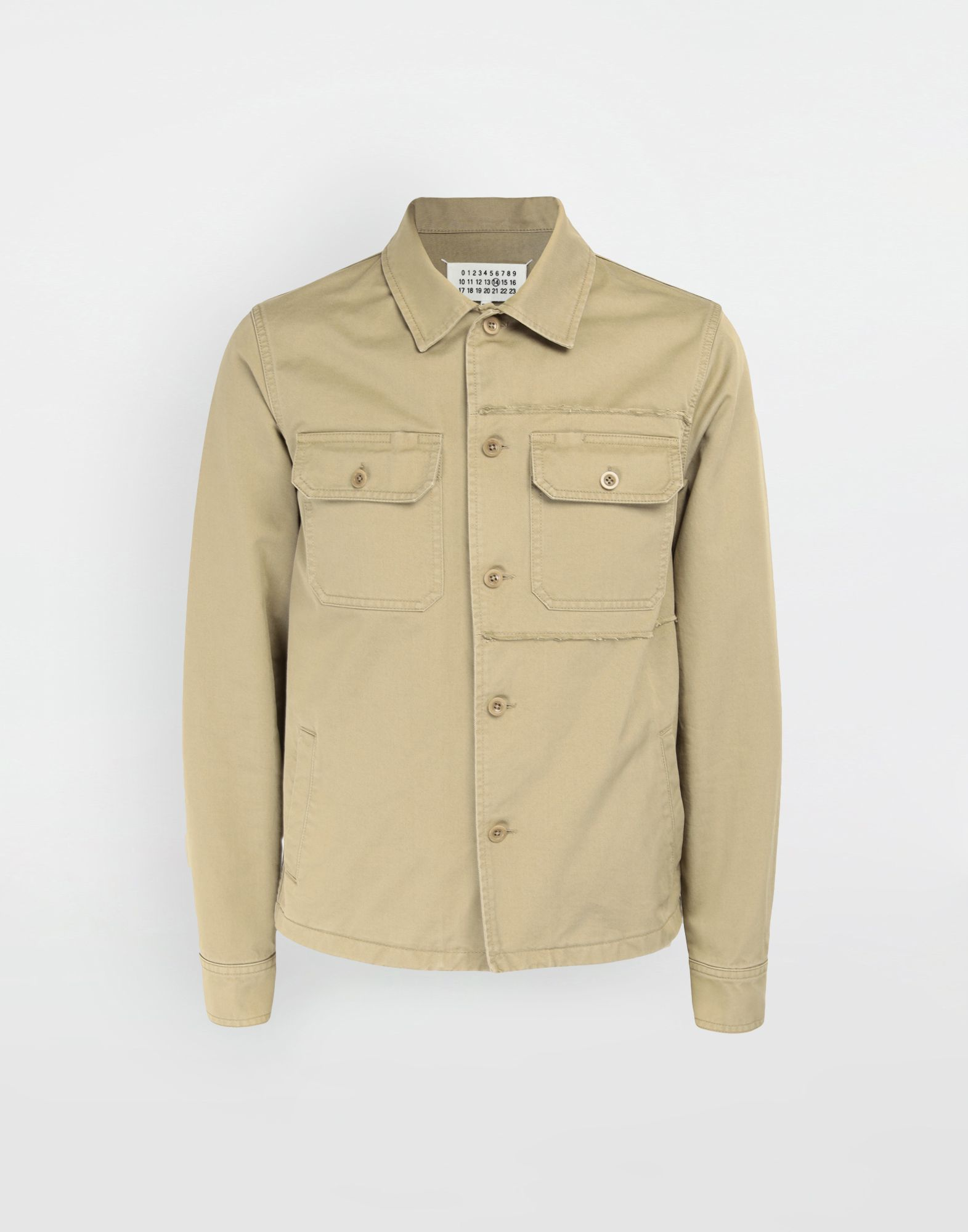 MAISON MARGIELA Shrunken military gabardine shirt Long sleeve shirt Man f