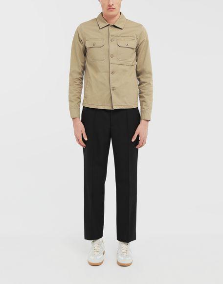 MAISON MARGIELA Shrunken military gabardine shirt Long sleeve shirt Man d