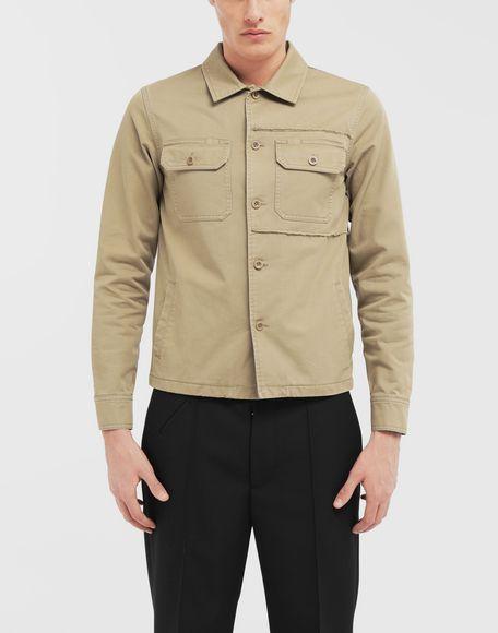 MAISON MARGIELA Shrunken military gabardine shirt Long sleeve shirt Man r