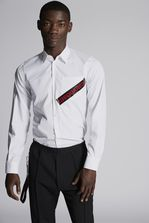 DSQUARED2 Poplin Carpenter Shirt With Punk Logo Tape Pocket Detail Shirt Man