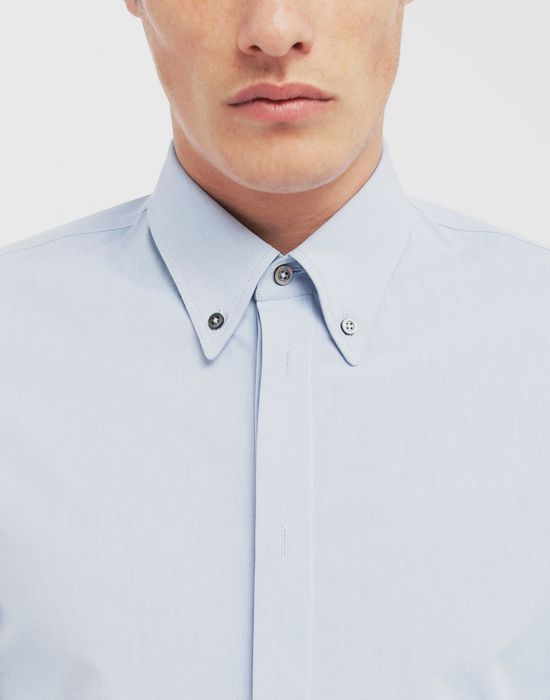 MAISON MARGIELA Tumbled canvas cotton shirt Long sleeve shirt [*** pickupInStoreShippingNotGuaranteed_info ***] a
