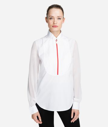 KARL LAGERFELD COTTON PLASTRON SHIRT