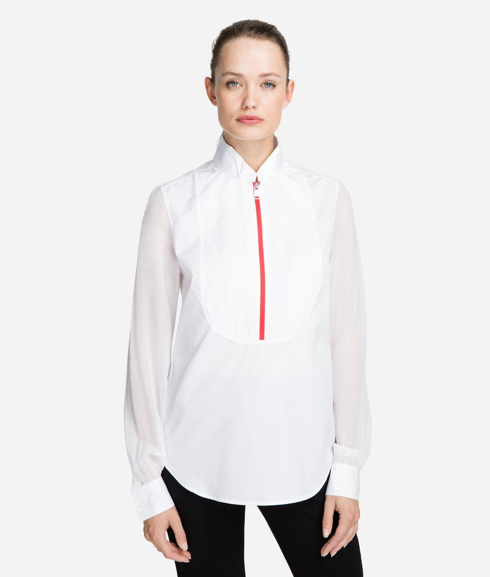 KARL LAGERFELD Cotton Plastron Shirt Blouse Woman f