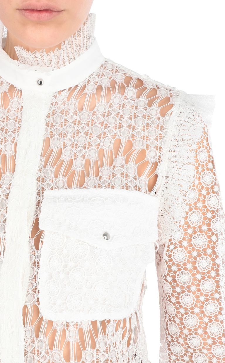 JUST CAVALLI Lace shirt Long sleeve shirt Woman e