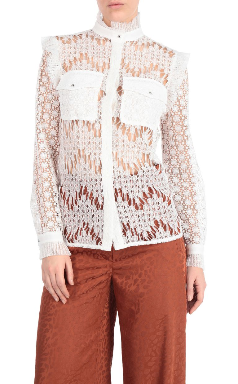 JUST CAVALLI Lace shirt Long sleeve shirt [*** pickupInStoreShipping_info ***] f