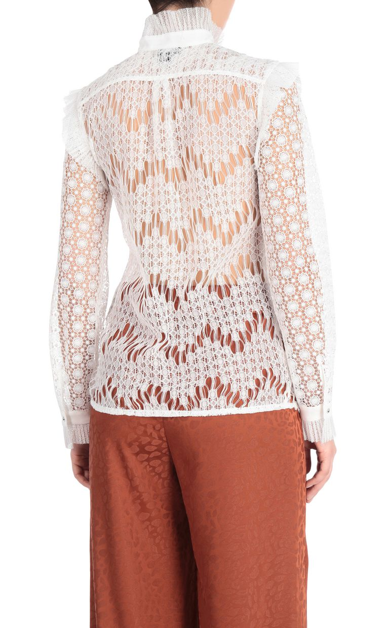 JUST CAVALLI Lace shirt Long sleeve shirt Woman r