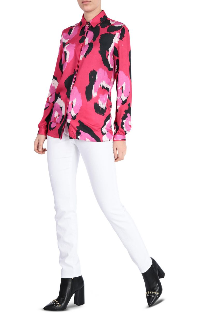 JUST CAVALLI Shirt with pop-art leopard print Long sleeve shirt Woman d