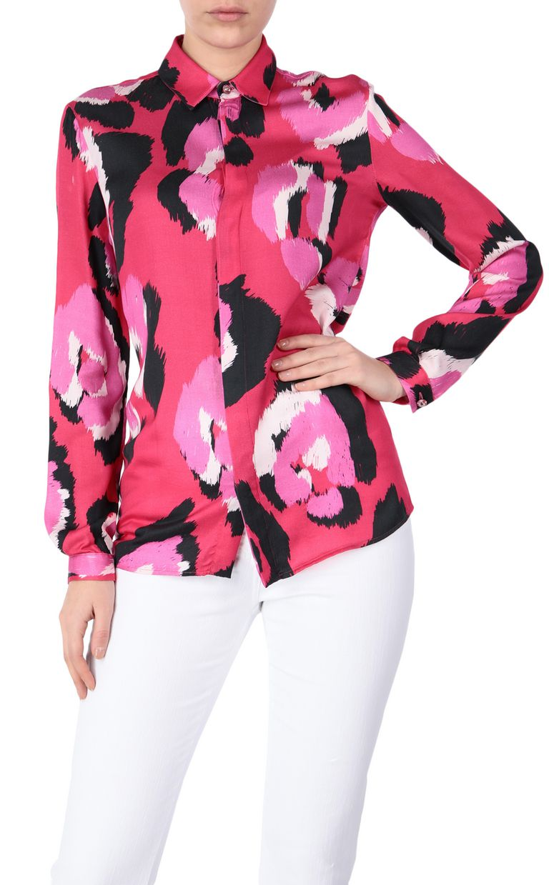 JUST CAVALLI Shirt with pop-art leopard print Long sleeve shirt Woman f