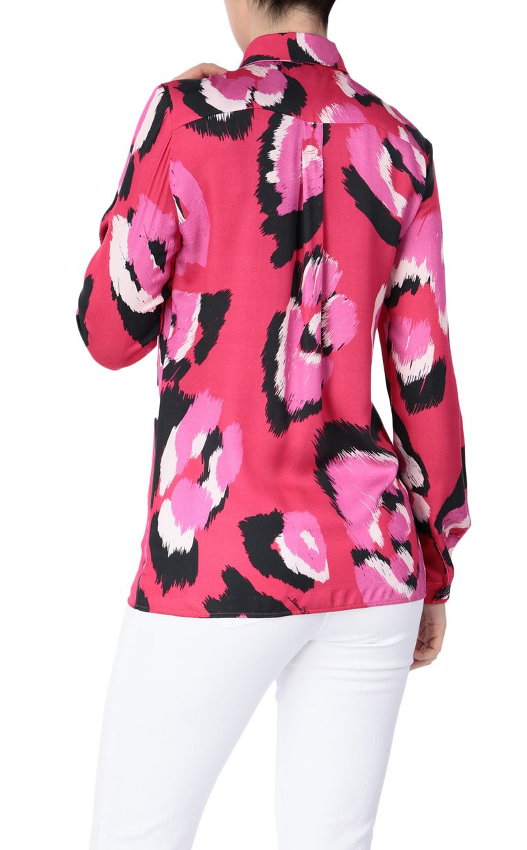 JUST CAVALLI Shirt with pop-art leopard print Long sleeve shirt Woman r