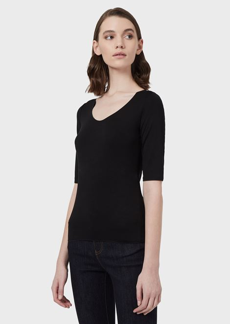 Stretch viscose jersey knit