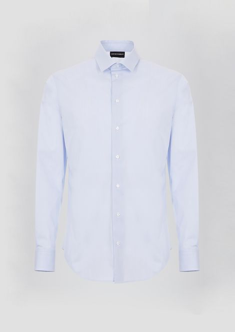 Slim-fit shirt in herringbone weave