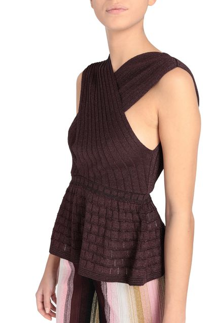 M MISSONI Top Deep purple Woman - Front