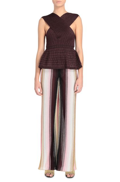 M MISSONI Top Deep purple Woman - Back