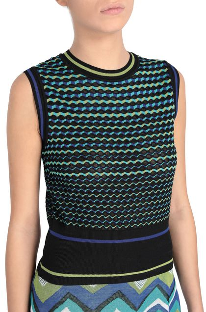 M MISSONI Top Black Woman - Front