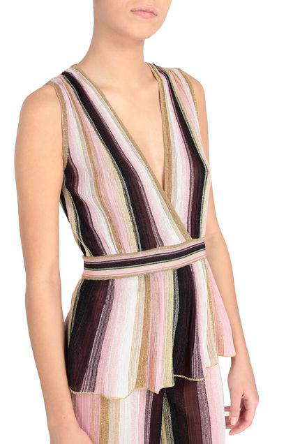 M MISSONI Top Pink Woman - Front