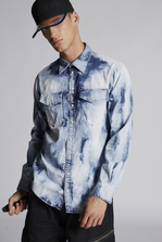 DSQUARED2 Bleached Military Denim Shirt Denim shirt Man