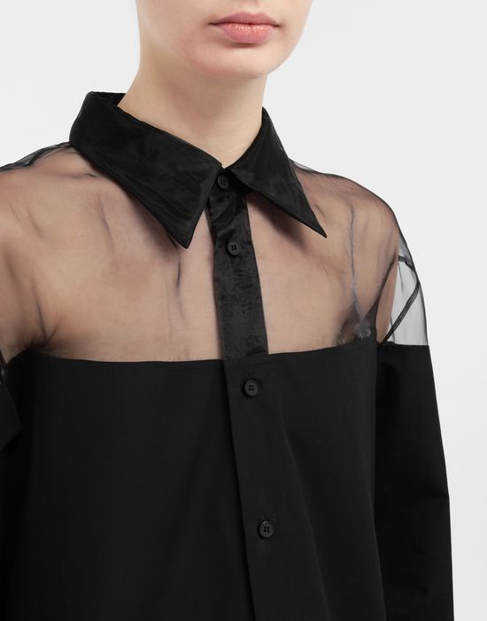 MAISON MARGIELA Décortiqué cotton-poplin shirt Long sleeve shirt [*** pickupInStoreShipping_info ***] a