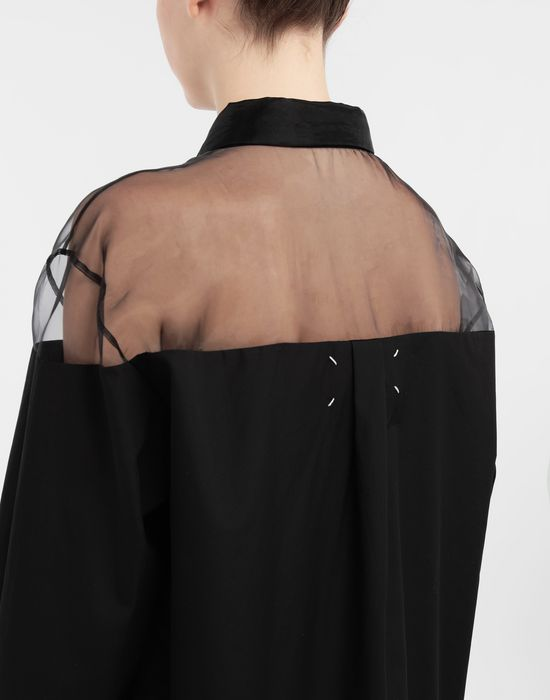 MAISON MARGIELA Décortiqué cotton-poplin shirt Long sleeve shirt [*** pickupInStoreShipping_info ***] b