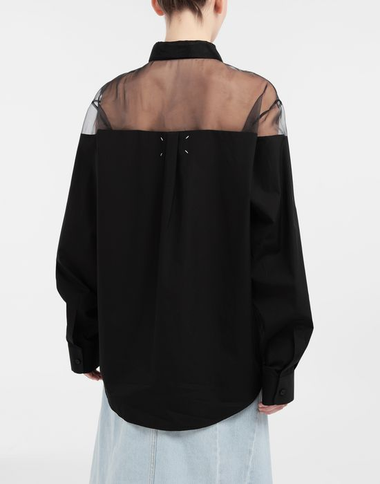 MAISON MARGIELA Décortiqué cotton-poplin shirt Long sleeve shirt [*** pickupInStoreShipping_info ***] e