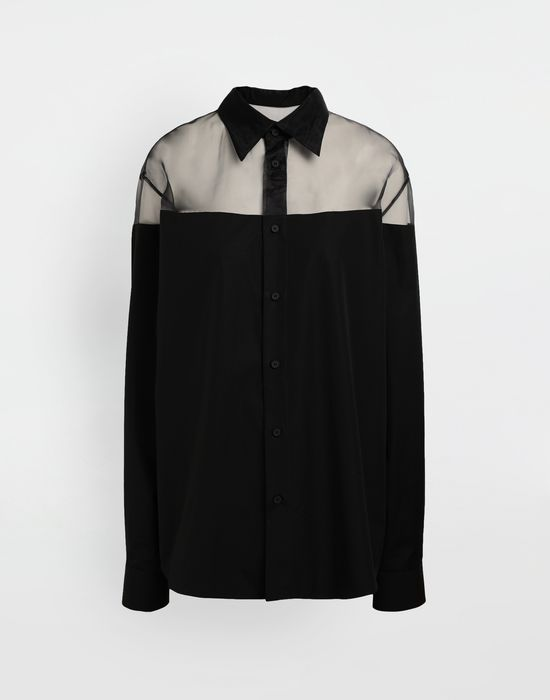 MAISON MARGIELA Décortiqué cotton-poplin shirt Long sleeve shirt [*** pickupInStoreShipping_info ***] f