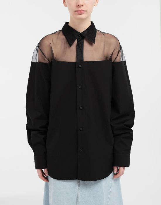 MAISON MARGIELA Décortiqué cotton-poplin shirt Long sleeve shirt [*** pickupInStoreShipping_info ***] r