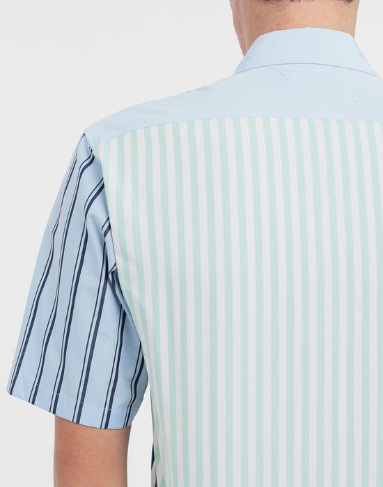 MAISON MARGIELA Asymmetric striped shirt Short sleeve shirt [*** pickupInStoreShippingNotGuaranteed_info ***] b