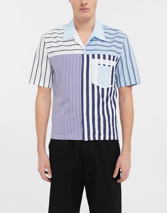 MAISON MARGIELA Asymmetric striped shirt Short sleeve shirt [*** pickupInStoreShippingNotGuaranteed_info ***] r