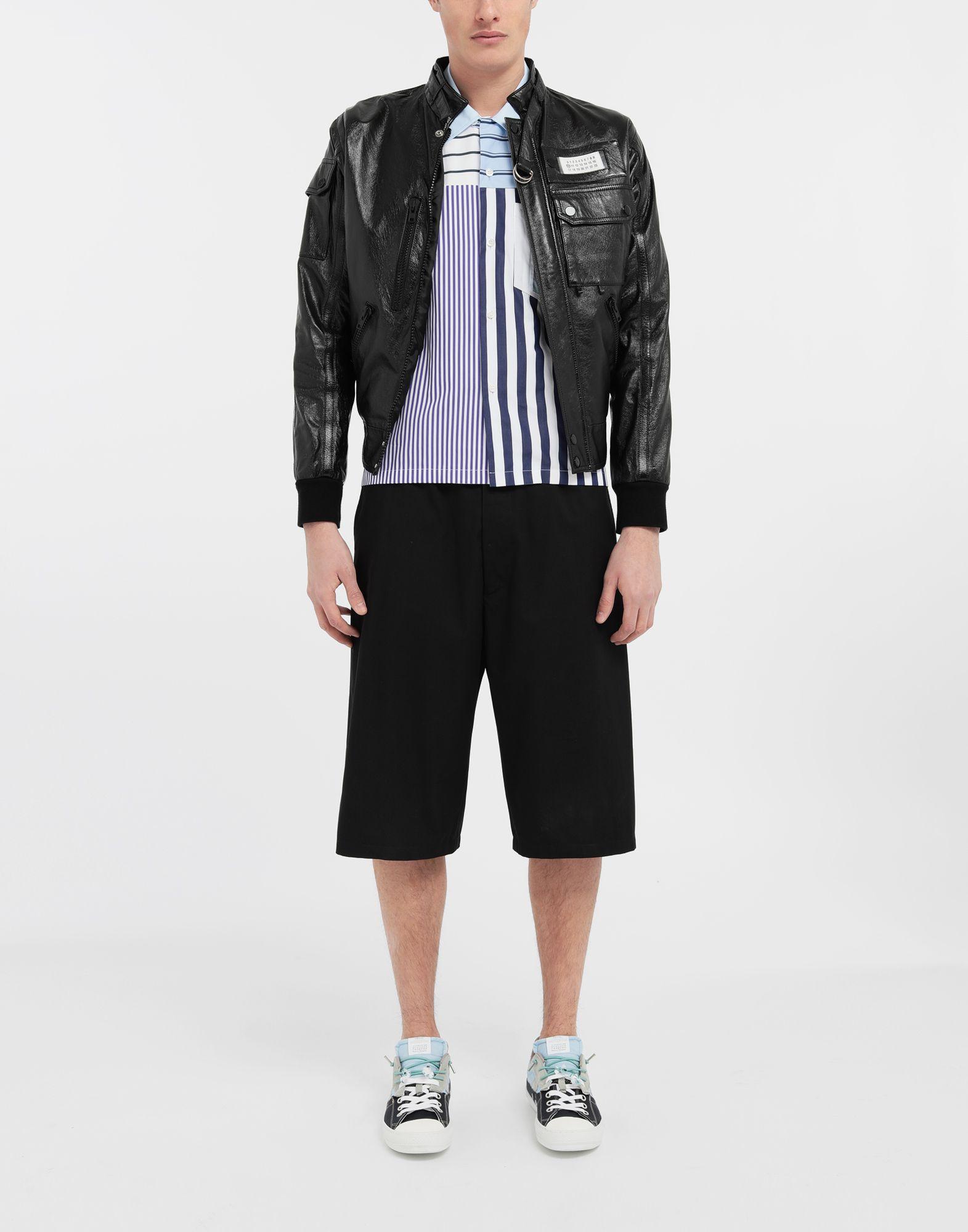 MAISON MARGIELA Asymmetric striped shirt Short sleeve shirt Man d