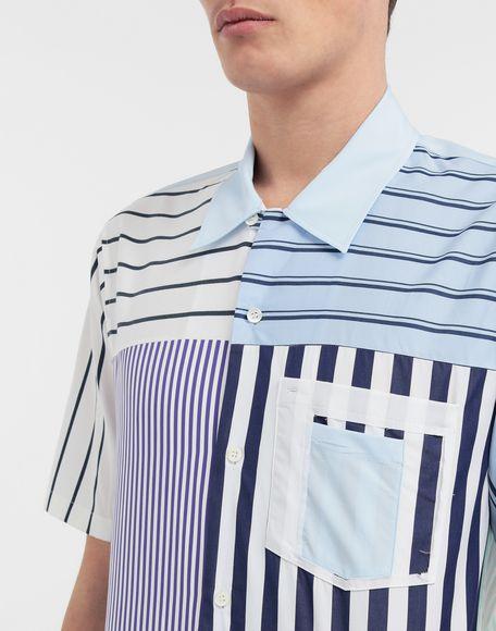 MAISON MARGIELA Asymmetric striped shirt Short sleeve shirt Man a