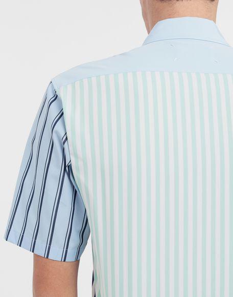 MAISON MARGIELA Asymmetric striped shirt Short sleeve shirt Man b