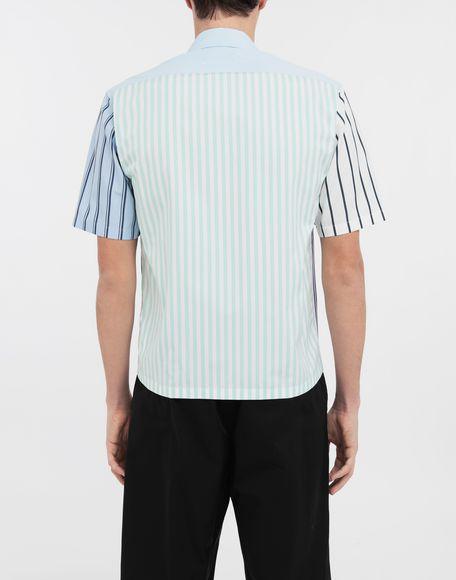 MAISON MARGIELA Asymmetric striped shirt Short sleeve shirt Man e