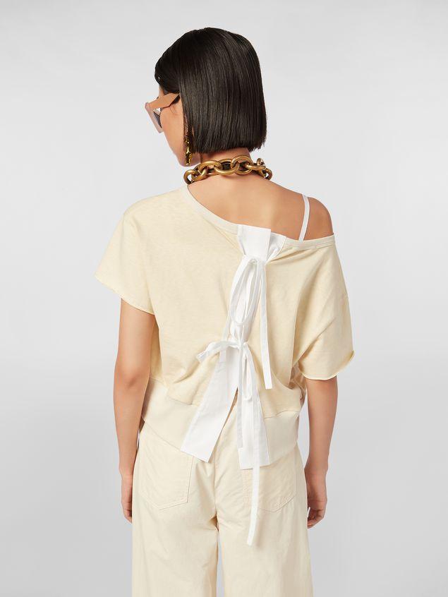 Marni Slub jersey sweater with bow closure Woman