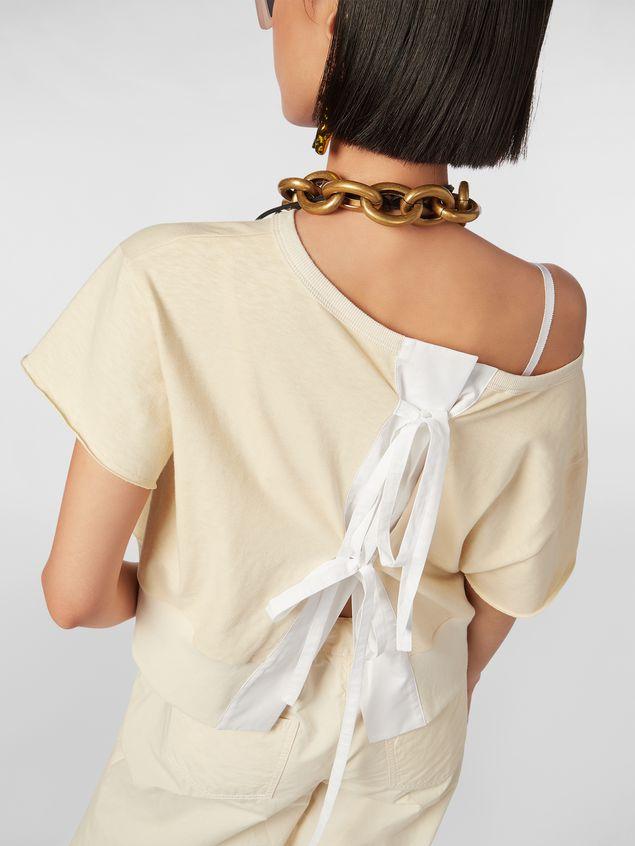 Marni Slub jersey sweater with bow closure Woman - 4