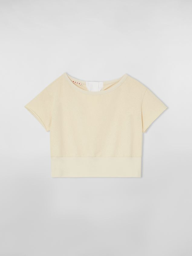 Marni Slub jersey sweater with bow closure Woman - 2