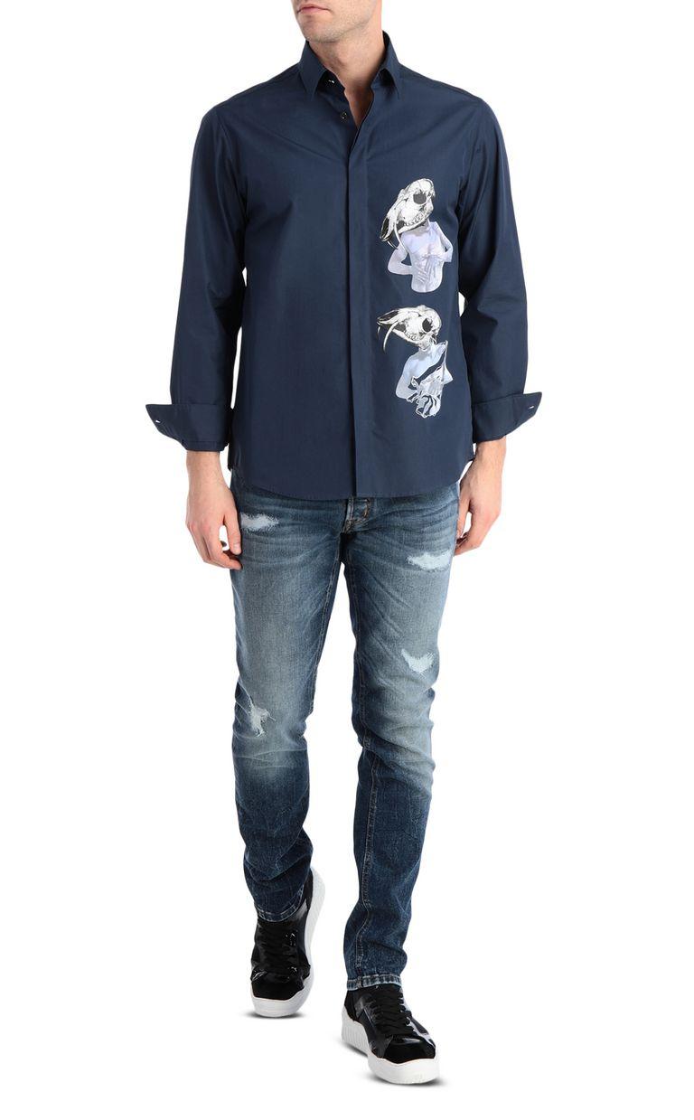 JUST CAVALLI Skull-print shirt Long sleeve shirt Man d
