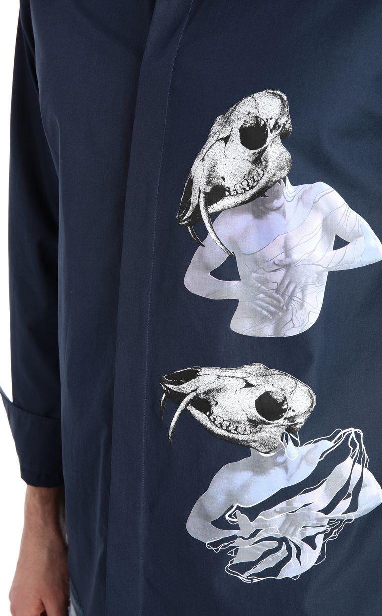 JUST CAVALLI Skull-print shirt Long sleeve shirt Man e