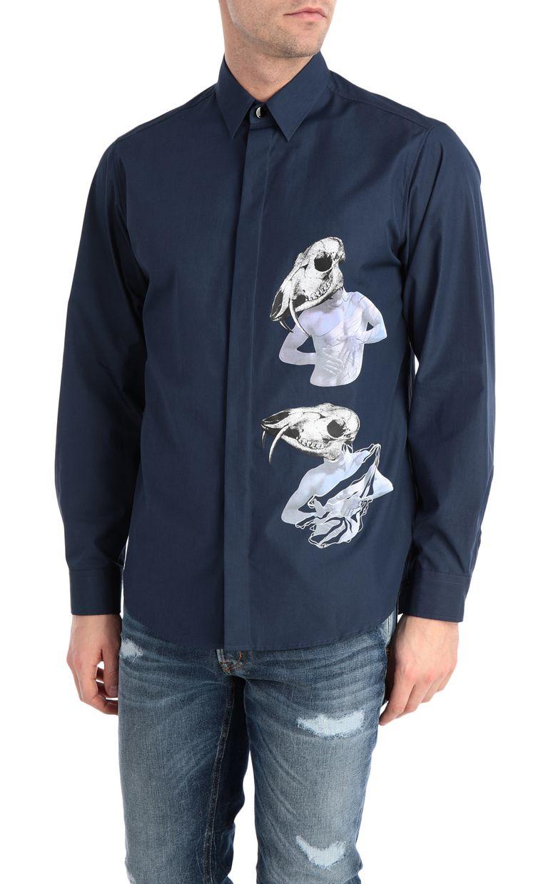 JUST CAVALLI Skull-print shirt Long sleeve shirt Man f
