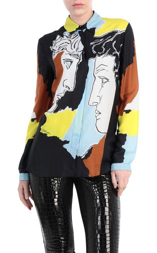 JUST CAVALLI Crewneck sweater Woman Pullover depicting David's face f